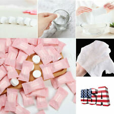 Usa 100 x Compressed Towels Tablet Face Coin Tissue Home Salon Travel Camping Mj