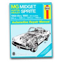Haynes 66015 Repair Manual MG Midget Austin-Healy Sprite 58-80 models cu