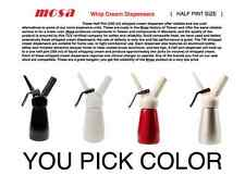 HALF Pint  Whip Cream Dispenser by Mosa  [ YOU PICK COLOR ]