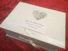 Customised Wedding Keepsake Memory Box Personalised Birthday Engagement Gift