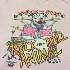 Vintage Little Rascals Pete Pink XL T-shirt Soft Thin Rock Animal Band Cartoon