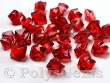 120 RED ACRYLIC CRYSTAL ICE CHUNKS SCATTER WEDDING TABLE DECORATIONS