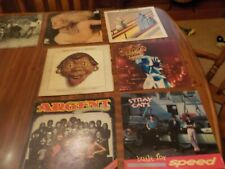 Lot Of 7 Assorted Album Covers Doctor Hook,Pink Floyd,Stray Cats,Black Sabbath