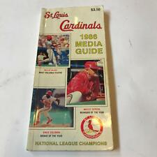Rare 1986 St. Louis Cardinals Team Signed Media Guide With 37 Signatures