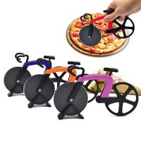 Stainless Steel Bicycle Shape Pizza Cutter Bike Dual Slicer Chopper HomeKitchen