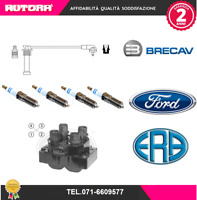 KIT79-G Kit Cavi Candela+4 candele+1 bobina accens. Ford (BRECAV-ERA-FORD)