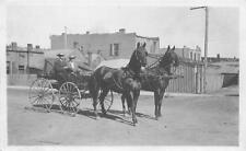 RPPC HORSE-DRAWN CART Two-Horse Wagon Vintage Real Photo Postcard ca 1910s