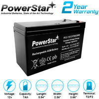 Peg Perego Battery 12v 7ah 12 volt 7ah Battery Slim Replacement PS12-7 12V 7.0Ah