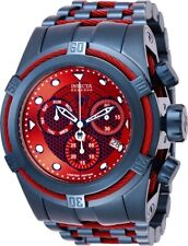 Invicta Mens 26012 Bolt Zeus Marvel Spiderman Blue/Red Dial SS Bracelet Watch