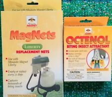 3 Mosquito Magnet Liberty Replacement Nets - GENUINE 3-Pack + Attractant! *NEW*