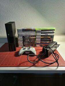 Xbox 360 E Inkl Controller & 28 Spielen