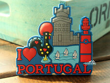 Rooster Culture in Portugal, Belém Tower, Cartoon Funny Souvenir Fridge Magnet