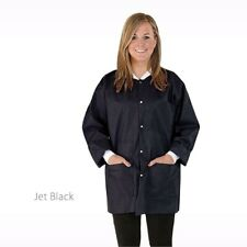 MediCom Medical Dental SafeWear Hipster Jacket Jet Black - Small 12 Pack 8118-A