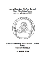 New Listing115 Page Army Advanced Military Mountaineer Course Winter Student Handout on Cd