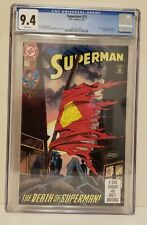 Superman #75 1993 CGC 9.4 White Pages The Death of Superman 1st Print!