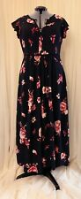 New Plus Size Clothing Dress City Chic Size S/16 16 16W Black Red Floral Summer!