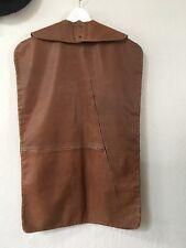 Vintage Leather Clothing Garment Travel Bag