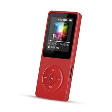 AGPTEK 8GB MP3 Player Lossless 70 Hours Playback Music Player with FM Radio RED