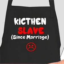Funny Aprons Kitchen Slave Chef Aprons Funny bibs Hilarious Aprons
