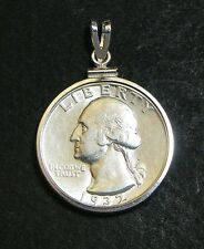 US Washington Quarter Sterling Pendant 1932