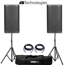 dB Technologies Opera 15 DJ PA 15 Inch Speakers with Tripod Stands and Cables