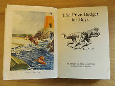 c1930 THE PRIZE BUDGET FOR BOYS (12 Short Stories, Various Authors) ILLUSTRATED