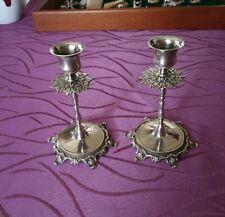 1paar Antique 800er Silver Candle Holder Candlestick