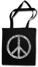 PEACE SYMBOL TASCHE STOFFTASCHE Sign Logo Frieden Regenbogen Hippie 60s Cultur