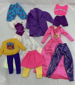 Vintage Mattel Barbie 80's Lot Clothes Dresses Tops Pants Shorts Skirts