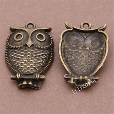 10pc Antique Bronze Animal Owl Pendant Charms Jewellery Making Wholesale PL646
