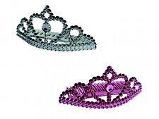 4 x Diadem Partykrone Kunststoff 2x silber 2x pink für JGA oder Karneval