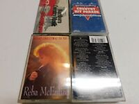 Lot of 4 Country Cassettes Mcentire Marlboro Country Evita Hit Parade Christmas
