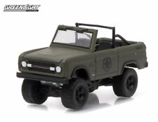 GREENLIGHT 29842 HOBBY EXCLUSIVE 1977 FORD BRONCO MILITARY TRIBUTE SARGE 77 1/64