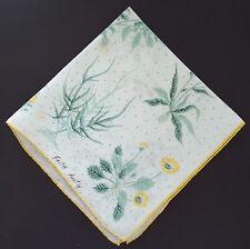 Handkerchief Faith Austin Dandelion Floral White Yellow Flowers Green Ferns
