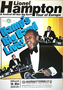 LIONEL HAMPTON 1980 NEU ISENBURG - orig.Concert Poster - Plakat A1 F/U 719