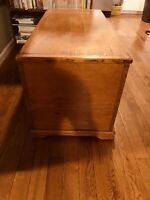 1860s Rare Vintage Antique Eastern Shore Yellow Pine Dovetailed Blanket Chest