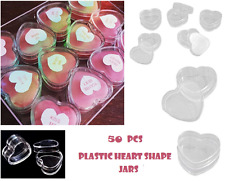 50 Pieces Clear Plastic Cosmetic Sample Container 5 Grams Jars Pot Small empty