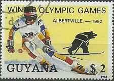 Timbre Sports d'hiver JO Guyana 2050FA o lot 6269 - cote : 4,50 €