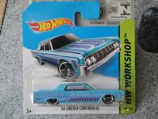 Hot Wheels 2014 #208/250 1964 LINCOLN CONTINENTAL blue HW Workshop Batch F