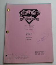 Lois & Clark * 1997 Superman TV Script * Season 4 Episode 21 * Toy Story