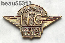 LADIES OF HARLEY DAVIDSON OWNERS GROUP HOG LOH 2009 VEST JACKET HAT PIN 09