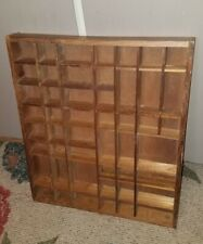 CHARMING Vintage Rustic Wooden SHADOW BOX Wall Shelf w/49 Compartments!