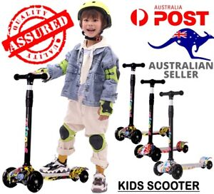 【LED Light】Kids Scooter Kickboard Child Training Push Bike 3 Wheels AU Seller