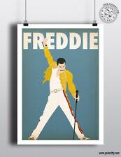FREDDIE MERCURY Music Icon Minimalist Poster Posteritty Minimal Wall Art Print