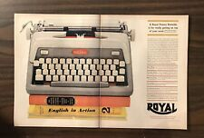 1960 ROYAL PORTABLE FUTURA TYPEWRITER (2 Page) Print Ad  Excellent Color (PH1)