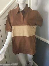 Fuller Fillies Short Sleeve Shirt Size 18 Riding/Equestrian Caramel and Brown