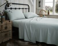 Flannelette 100% Brushed cotton Sheets In Duck Egg