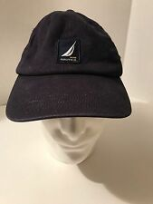 Nautica NS-83 Ball Cap Hat Blue S/M Cotton Spandex RN 67835 CA 07415