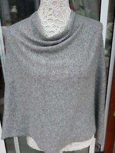 Vera Tucci  Grey Cashmere Poncho Cape