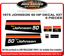 1975 JOHNSON 50 HP Reproduction Outboard Decal kit